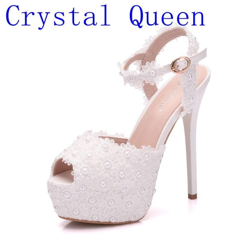 d18e86b2 Queen Sexy Mujer White Mujeres Manera Primavera Plataforma Alto Sandalias  Cordón Partido Del La De Blancas Bombas Tacón Zapatos ...