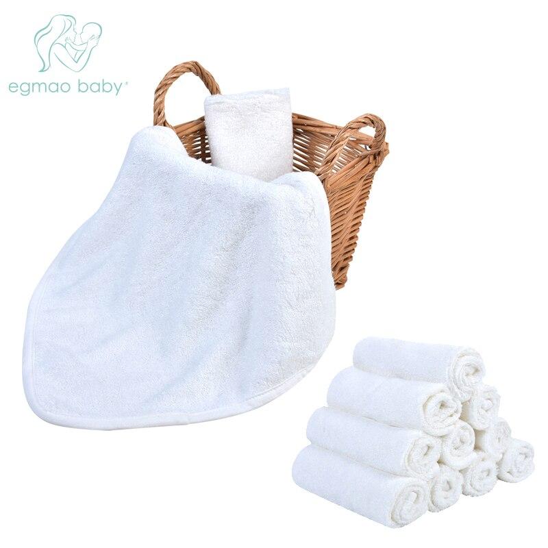 """10 """"x 10"""" Weiß 6 Paket Weiche Baby Bad Waschlappen 100% Bambus Handtücher Perfekte Baby Geschenke Baby Reise Baden Kit"""