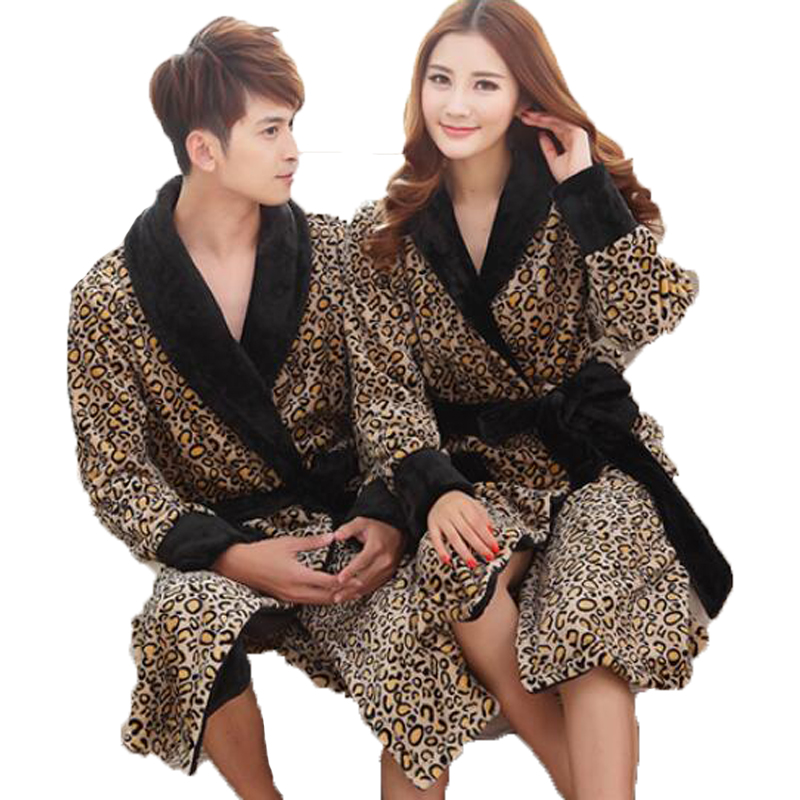 Find Many Great New Used Options And Get The Best Deals For Leopard Print Parka Fleece Hooded Bathrobe Dressing Gown Robe At Online Prices