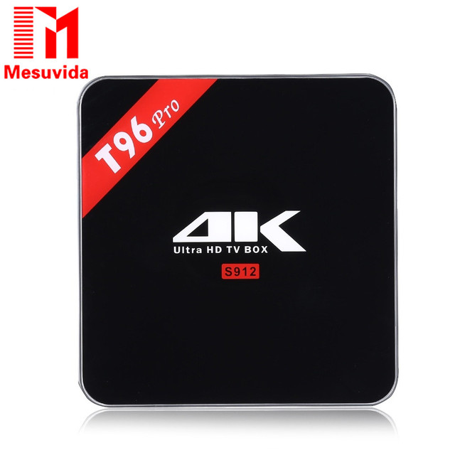 T96 originais PRO Caixa de TV Inteligente Android 6.0 Caixa De TV 3 GB RAM 16 GB ROM 2G 5G WiFi Bluetooth Set Top Box Jogador