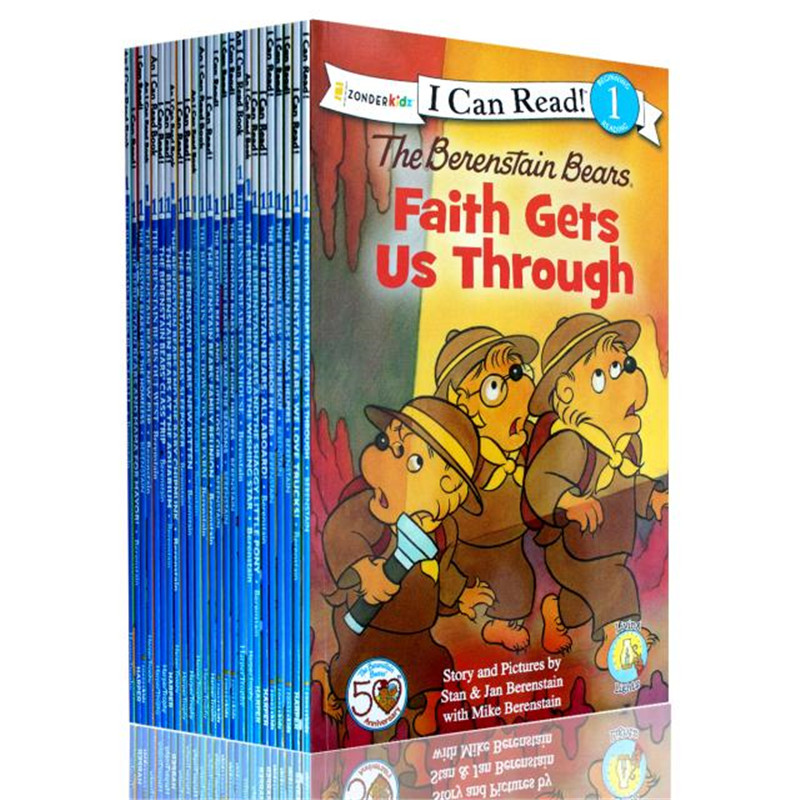 25 Books/set I Can Read Phonics Books My Very First Berenstain Bears English Picture Story Book For Children Kids Reading Book