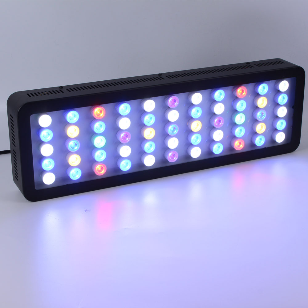 Lengthen 165w wifi  Led Grow Dimmable  Aquarium Lighting Timer Light Lamp for Acuario Marino Coral Reef Led Fish Tank