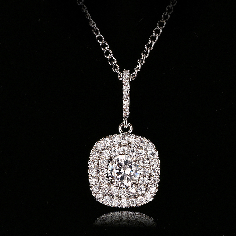 Emmaya Fashion Zircon Necklaces & Dazzling White Gold Color Pendant Necklace For Women Gift Wedding Party