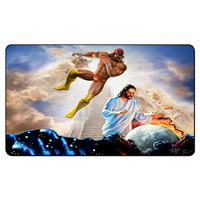 (Macho Man Randy Savage Jesus Playmat),Magical Card Board Games Play Mat, MGT Custom Design Playmat with Free Gift Bag