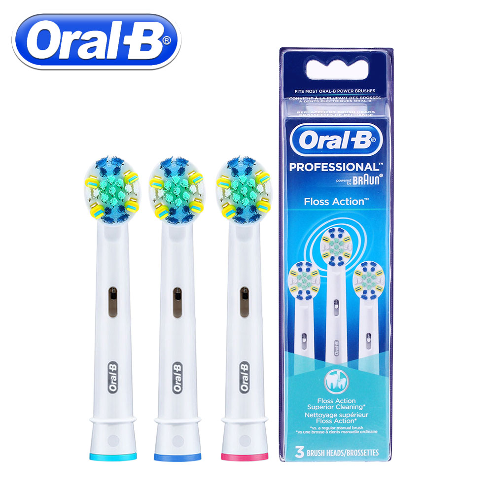 3pc/Pack Oral B Floss Action Replacement Sonic Electric Toothbrush Heads Oral B Toothbrush Heads Oral Hygiene Brush Head 4 pcs pack oral b replacement heads for rotation type electric toothbrush triple action eb30 brush heads deep clean