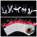 10 Packs French Manicure Nail Art Tip Guides Stickers DIY Women Makeup Tools For Nail Salon