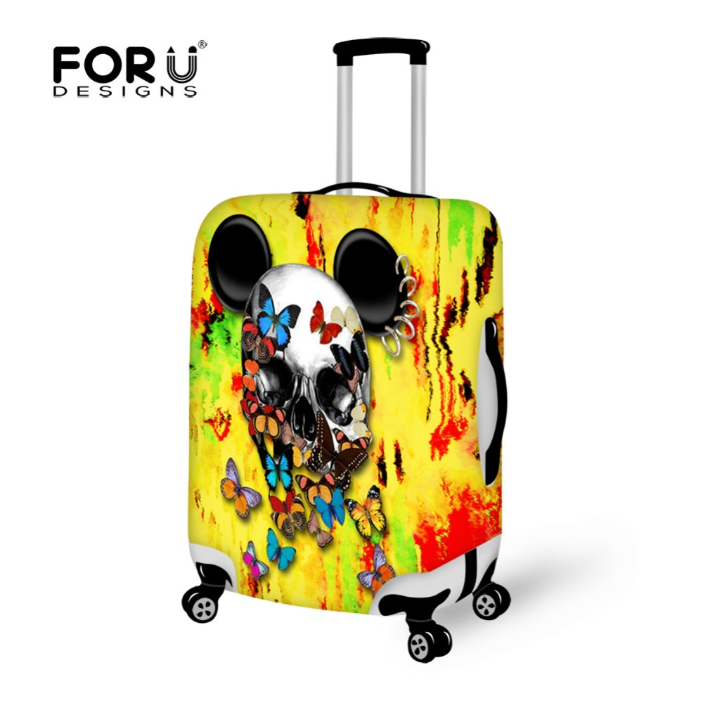 FORUDESIGNS Travel Luggage Protective Rain Cover Waterproof Suitcase Cover For 18-30 Inch Case Luggage Bag Travel Accessories