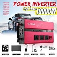 3000 10000W Car Power Inverter USB DC12/24V To AC110V/220V Sine Wave Converter Voltage Transformer Charger Solar Inversor
