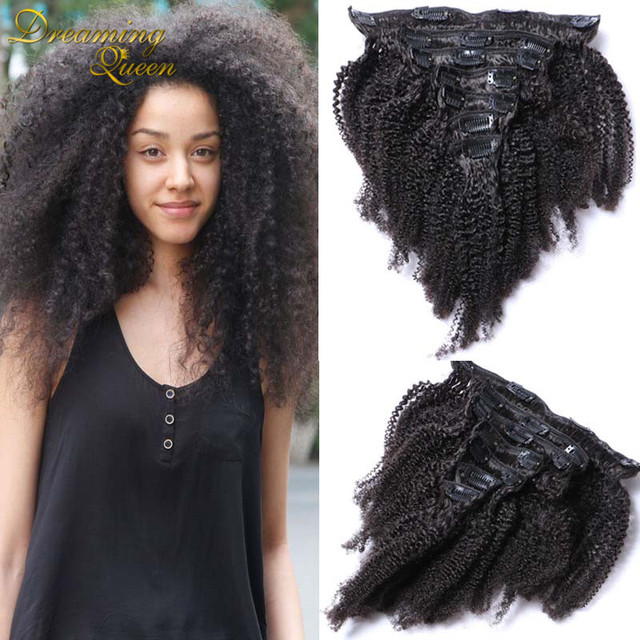 7a Afro Kinky Clip In Hair Extensions Brazilian Hair Extensions Afro