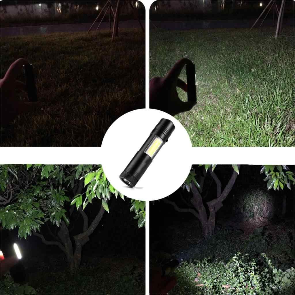 Litwod Z90 + super bright MINI XP-G Q5 COB LEVOU Lanterna Tocha luz da lanterna Portátil 4 Modos para 14500 PILHAS AA bateria