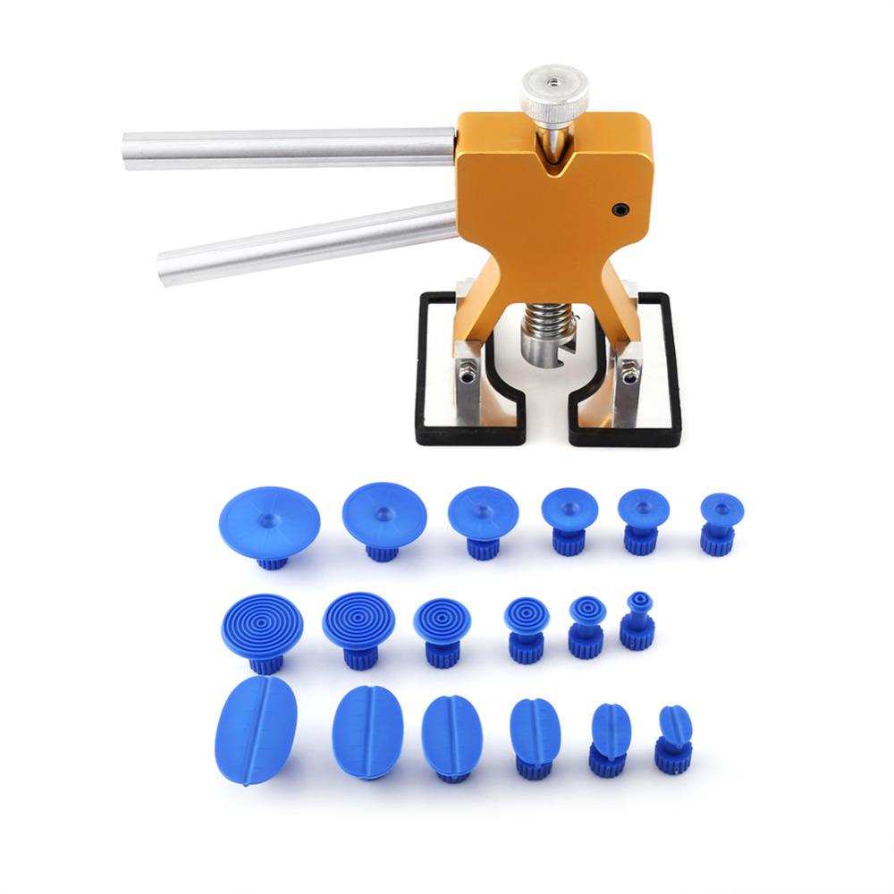 Prix pour Lifter Colle Extracteur + 18 Bleu Onglets Débosselage sans peinture Hail Enlèvement pdr Outil Kit Auto Voiture Maintence