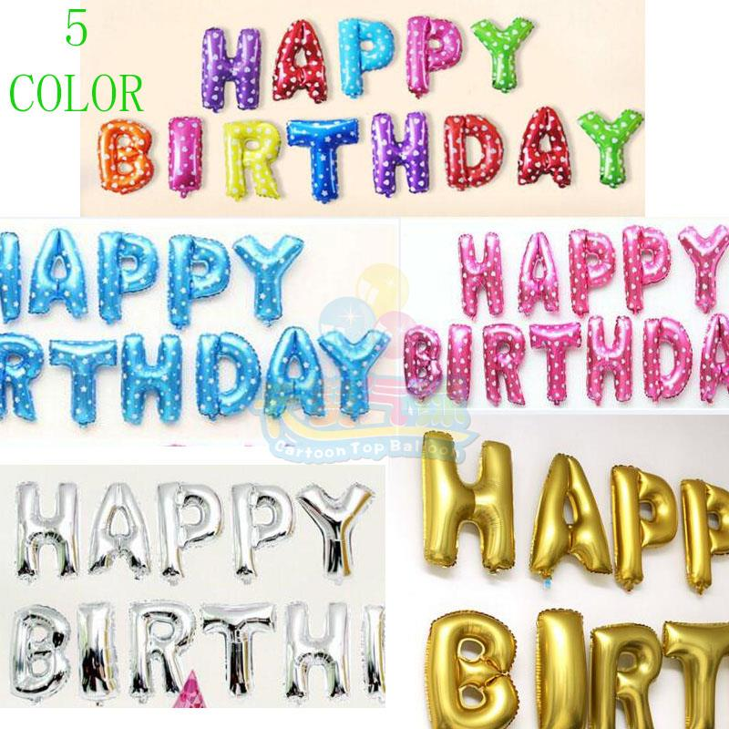 13pcslot 16inch multicolor foil birthday letter balloons happy birthday letter shaped ballons party globos 1st birthday decor