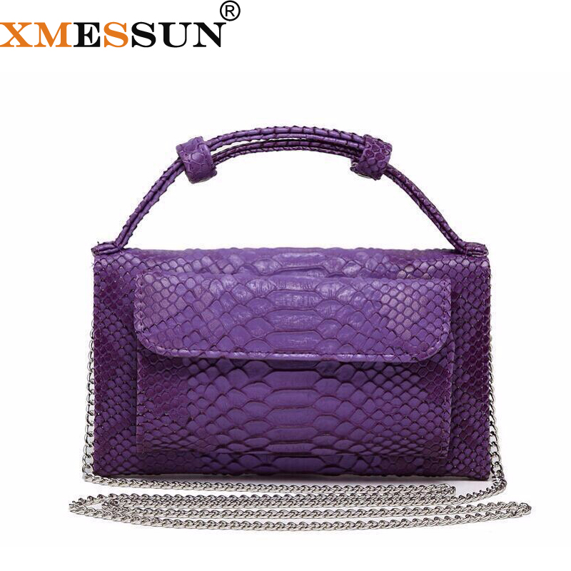 Fashion Cowhide Leather Day Clutch One Shoulder Cross-body Bag Small Crocodile Pattern Genuine Leather Clutch Chain Women's L172