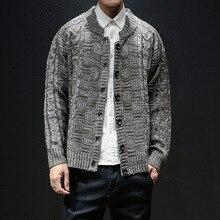 winter christmas sweater cardigan men fashion brand mens jumper plus size mens sweaters 2018 M-5XL