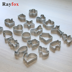 28 Style Cookie Cutters Moulds Aluminum Alloy Cute Animal Shape Biscuit Mold DIY Fondant Pastry Decorating Baking Kitchen Tools