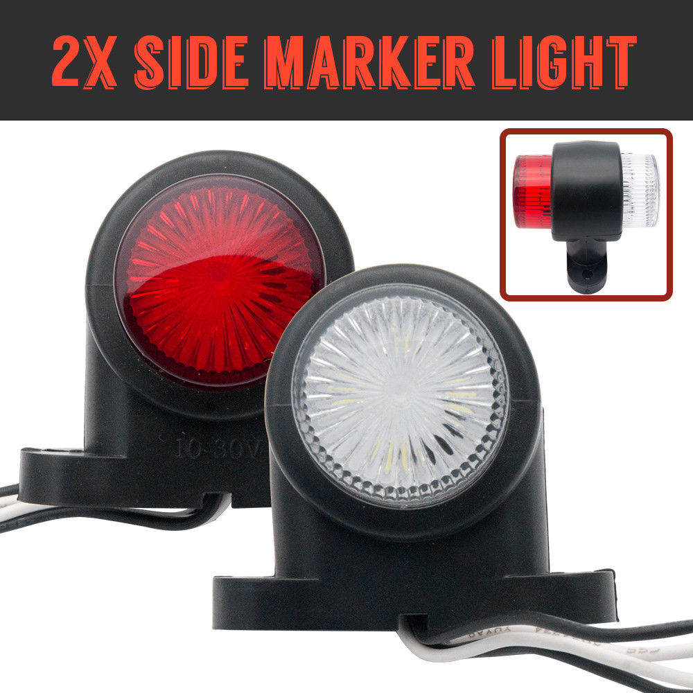 MASO 2x 8LED Rear Tail Lights 12V Carvan Van Indicator Truck Lorry Trailer Rear Tail Stop Lamp