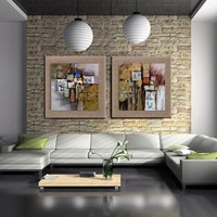Imagem de alta qualidade Pintados À Mão arte Abstrata Pintura A Óleo Sobre linho Com Moldura Modern Home Decor parede pictures para sala de estar quarto quadros de parede para sala quadros decorativos pintura abstrata