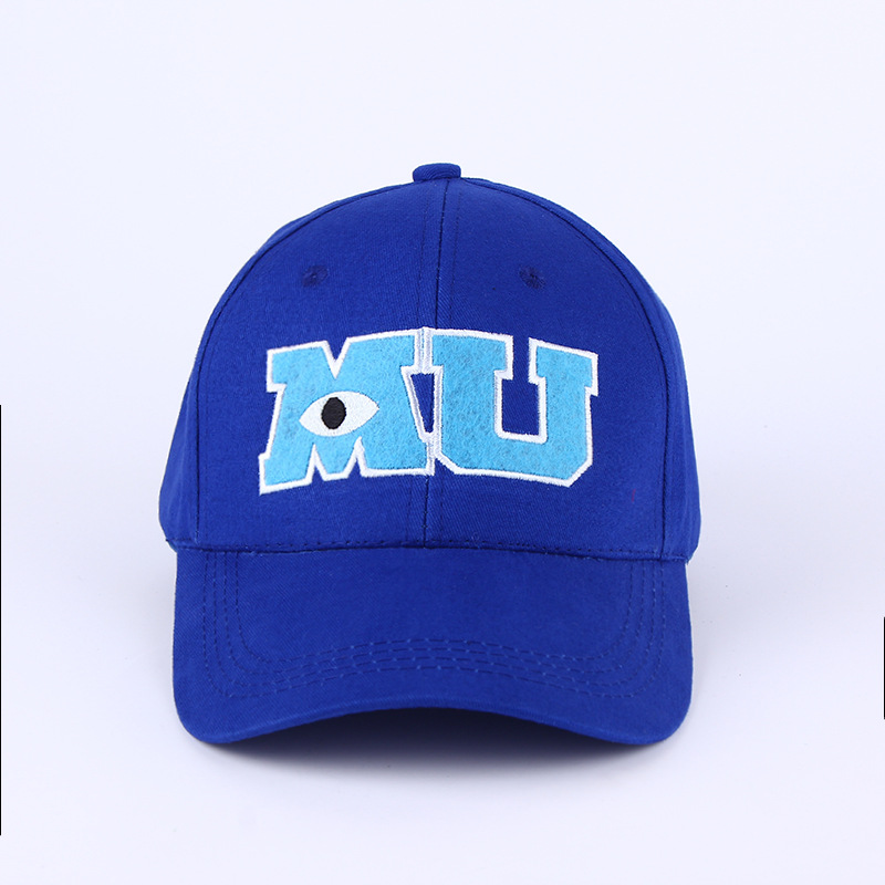 Voron 2017 New Brand Pixar Movie Monsters University Sulley Mike Mu Letters Baseball Blue Hat Baseball Caps One Piece Vestidos Baseball Cap Baseball Cap Brandhats Baseball Caps Aliexpress