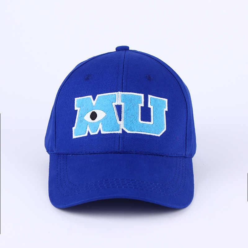 VORON 2017 Nieuwe Brand Pixar Movie Monsters University Sulley Mike MU Brieven Baseball Blauwe Hoed Baseball Caps Een Stuk Vestidos