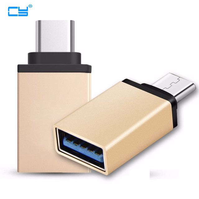 Hot USB-C to USB Adapter for Macbook USB3.1 type C Male to USB 3.0 A Female Adaptor for Apple Converter Wholesale gold & Silver
