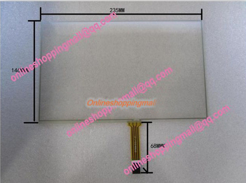 New 10.2 inch Touch Screen 4 Wire Resistive Touch Screen Material 235x145mm touch glass amt 146 115 4 wire resistive touch screen ito 6 4 touch 4 line board touch glass amt9525 wide temperature touch screen