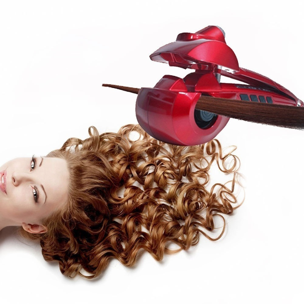 Fashion Automatic Curler Steam Spray Styler Ceramic Wave Hair Magic Curling Iron Machine nano titanium curls waves styler vav automatic hair curler ceramic tourmaline curling iron magic hand heat up fast negative ions pink dual voltage