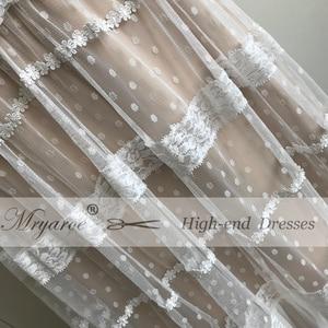 Image 4 - Mryarce שיק שמלות כלה ייחודי תחרה מקסים פולקה נקודות ארוך שרוול כלה בוהמית כלה שמלות