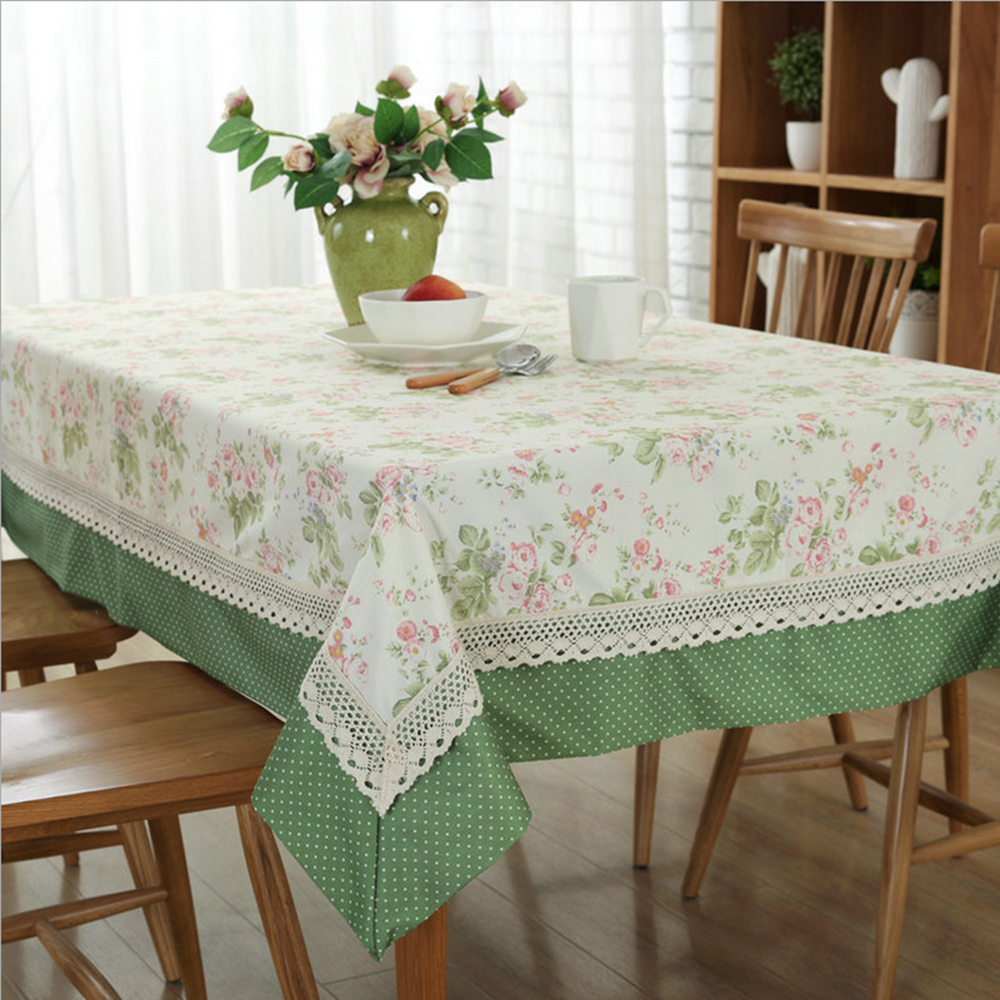 Pastoral Two Color Printing Tablecloth Stitching Multi