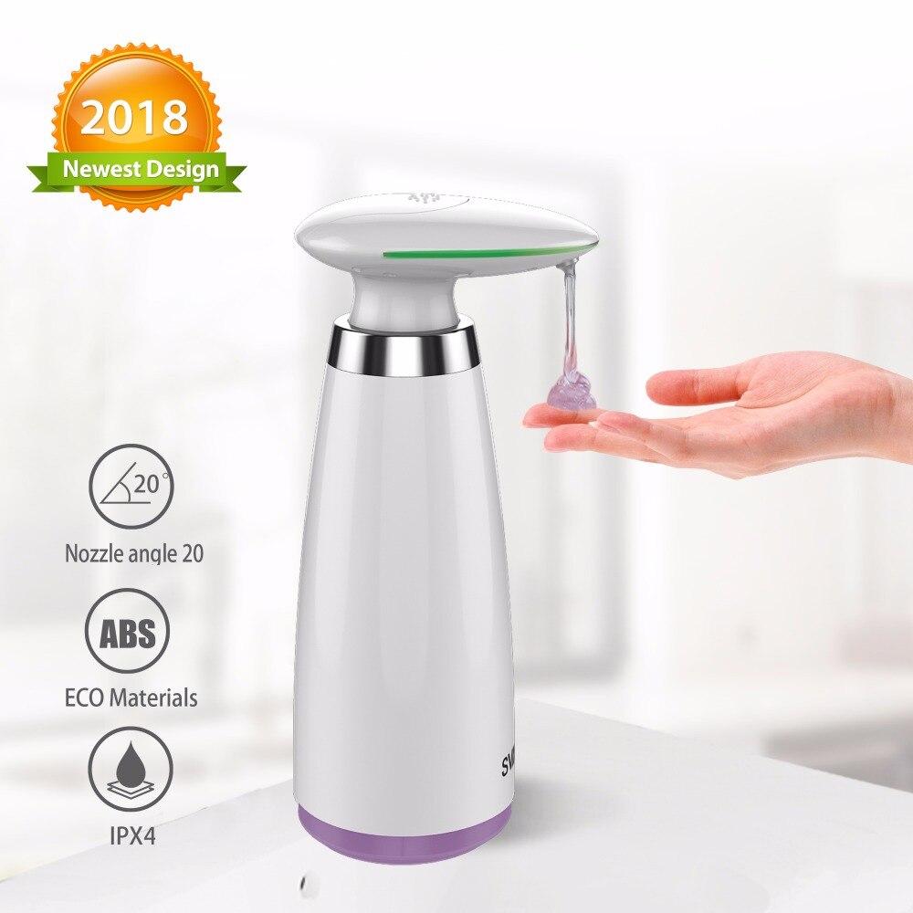340ml Dispensador Automático de Sabão Mão Livre Touchless Desinfetante Dispensador de Banheiro Dispensador de Sabão Líquido do Sensor Inteligente para Cozinha