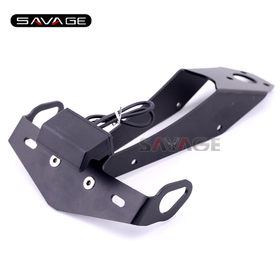 for YAMAHA YZF-R1 2009-2014 10 11 12 Motorcycle Tail Tidy Fender Eliminator Registration License Plate Holder Bracket LED Light aftermarket free shipping motorcycle parts eliminator tidy tail fit for 2006 2012 yzf r6 yzf r6 yzfr6