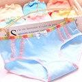 3 pçs/lote senhoras underwear bonito rainbow side lace moda low-rise underwear da menina do algodão para meninas cuecas curtas mulher calcinha