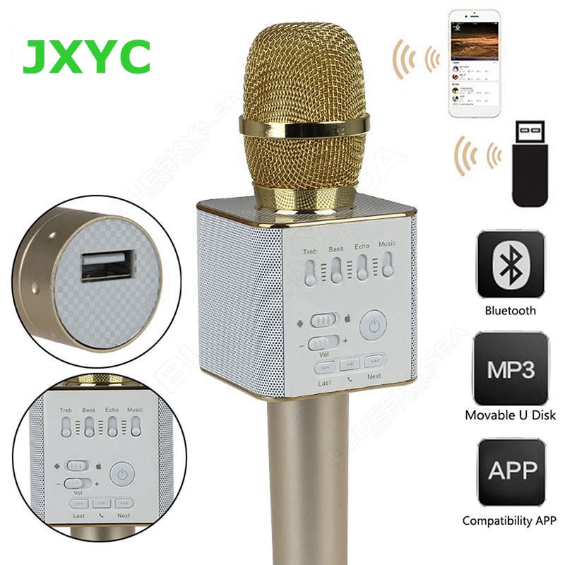 ФОТО Hot sale original Brand Q9 Magic Bluetooth Karaoke Microphone Wireless Professional Player speaker With Carring Case