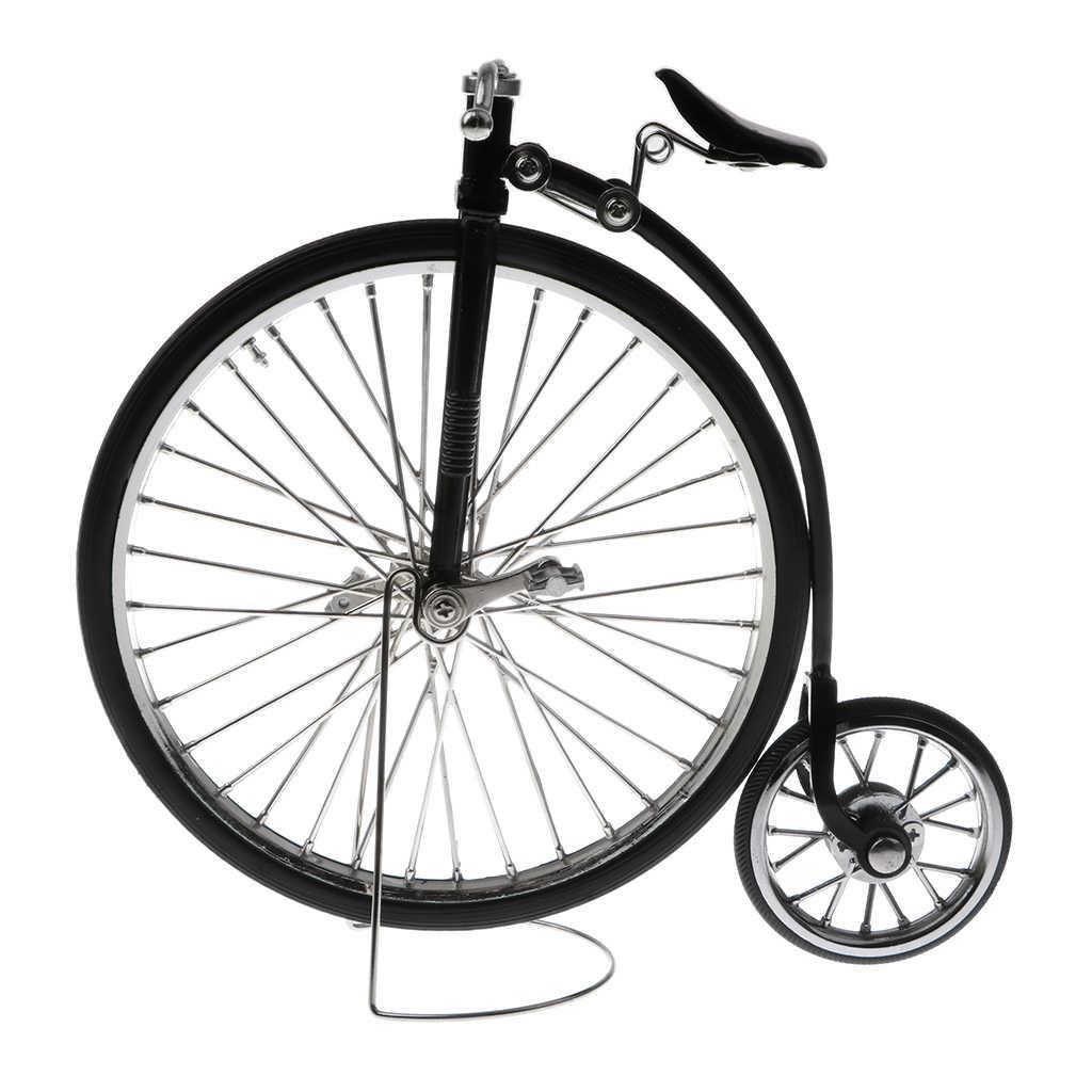 الرجعية خمر 1:10 سبيكة دييكاست سباق دراجة الدراجة لعبة مجسمة Playset المنزل ديكور دست الحرف الأسود