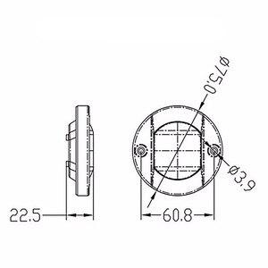 Image 2 - 12 فولت LED مركبة بحرية يخت الذيل إضاءة أرضية من الاستانليس ستيل الأبيض مرساة ستيرن ضوء مقاوم للماء