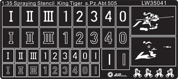 1/35  WWII German King Tigers Of S.Pz.Abt 505