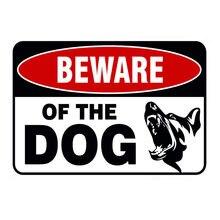 Cuidado com o cão guarda no dever aviso perigo metal estanho placa de parede cartaz pintura decoração de natal arte