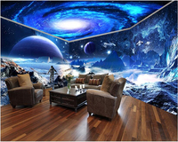 Beibehang Fantastic Creative Fashion Waterproof Wall Paper Star Wars Star Sky Theme Space House Wall Papel