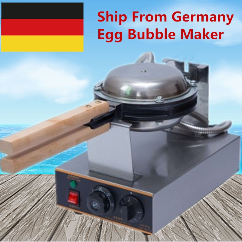 Ship From Germany 220V Egg Donut Bubble Waffle Machine Egg Waffle Machine Hong Kong Eggettes Bubble Waffle Maker купить в Москве 2019