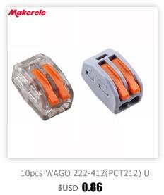 20PCS PCT-103D Push Wire Wiring connecteur 3 broches conducteur Bornier