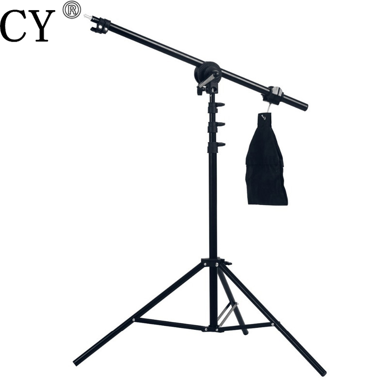 High Quality Photo Studio 75-135cm Light Boom Arm With Light Stand Hot Selling photo studio arm bar with lighting boom 2m light stand boom photography kit cross arm