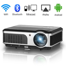 CAIWEI 2018 New Arrival Android WIFI LCD Projector Bluetooth Home Theater Proyector Support 1080P Video Movies TV PC HDMI VGA