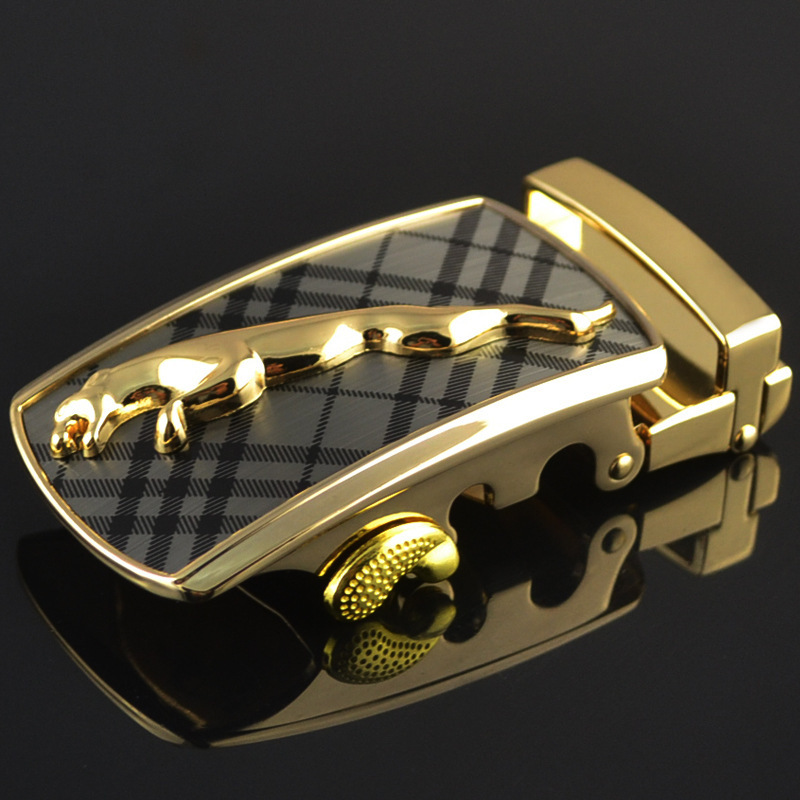 Fashion Men's Business Alloy Automatic Buckle Unique Men Plaque Belt Buckles For3.5cm Ratchet Men Apparel Accessories LY125-0183