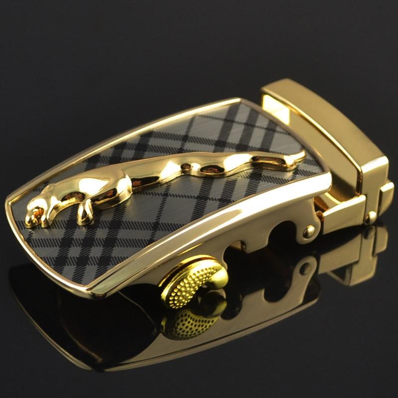 Fashion Men's Business Alloy Automatic Buckle Unique Men Plaque Belt Buckles For3.5cm Ratchet Men Apparel Accessories LY125-0183