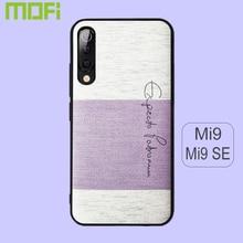 Pour Xiao mi mi 9 étui Mofi pour Xiao mi 9 Se étui couverture arrière en tissu de coton éponge doux pour Xiao mi mi 9 étui Se violet rose bleu