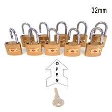 Бесплатная доставка, 10 шт., 32 мм навесные замки, открытые с помощью одинаковых ключей