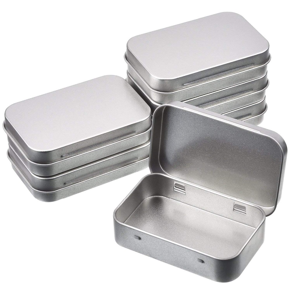 US $4.28 18% OFF|6/12 Pcs Mini Portable Metal Rectangular Empty Hinged Tins Box Containers Home Organizer|Storage Boxes & Bins| |  - AliExpress
