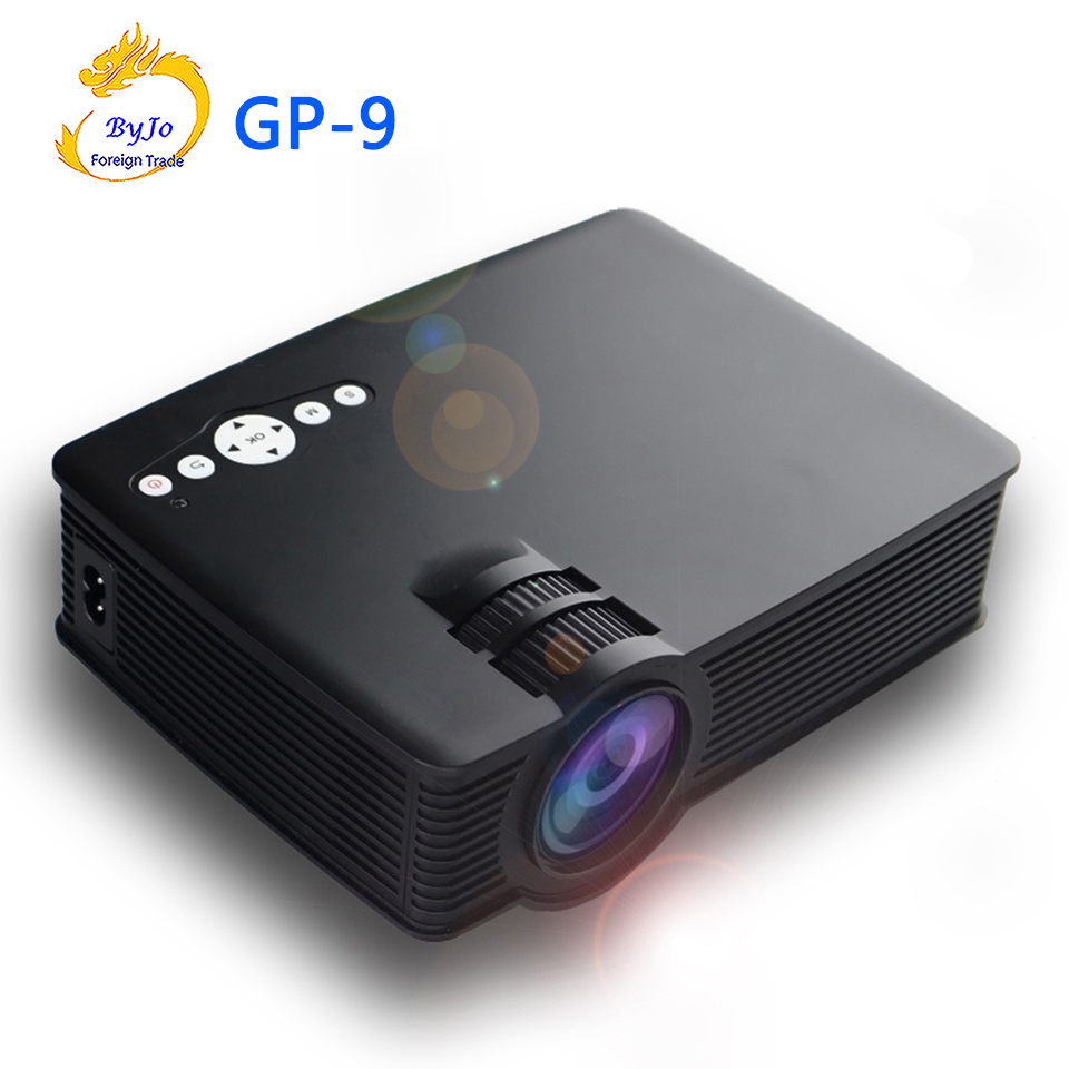GP-9 Mini LED projector 3D Multimedia Projector Full HD Home theater projector Video Portable Cinema proyector