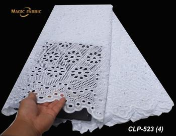 African French Swiss Voile Lace High Quality Cheap Voile Lace Fabric Nigerian Dry Cotton Lace Fabric Switzerland Lace    CLP-523