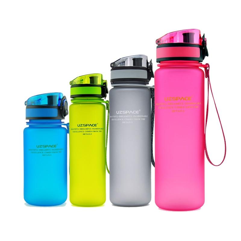 Portable Outdoor Climbing Hiking Bottle 1000ML 650ML 550ML 350ML Eco Friendly Water Bottles Scrub Coffee Tea