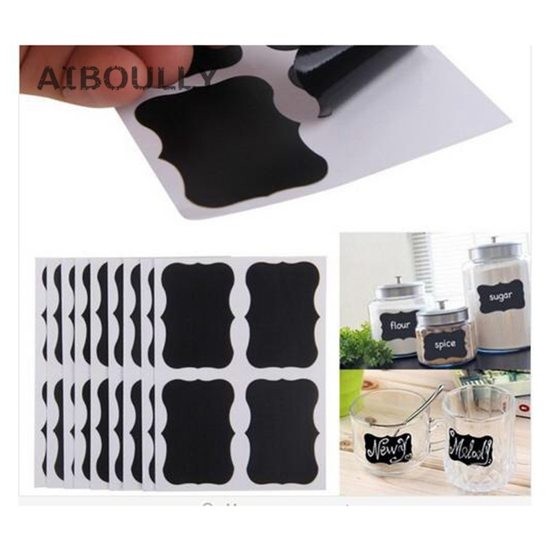 40pcs DIY Chalkboard Lables Home Kitchen Waterproof Mason Jar Bottle Stickers Labels Wedding Birthdays Party Decor Can Be Reused